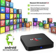 Bqeel M9C Pro Android Tv Box 6.0 4K Amlogic S905X Chipset-Quad Core [1G/8G] with Kodi 16.1 Fully Loaded-Support Ultra-Fast Streaming Media Player £23.99 @ Amazon