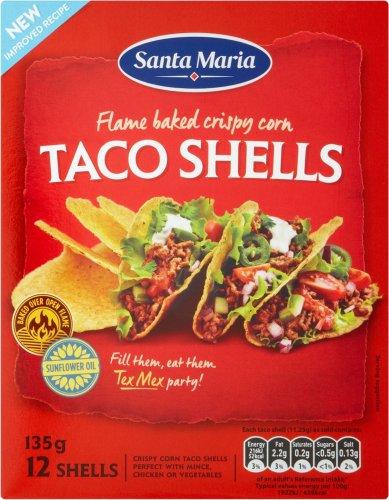 Santa Maria Taco Shells (12 = 135g) was £1.50 now Only £1.00 @ Sainsbury's