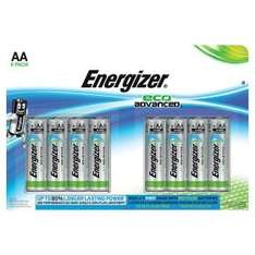 Energizer EcoAdvanced AA/AAA 8 pack only £2.25 in store ASDA Minworth