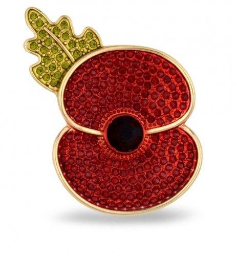Royal British Legion Gold/Silver tone Poppy Brooch reduced to £9.99 (prime) / £13.98 (non prime) @ amazon