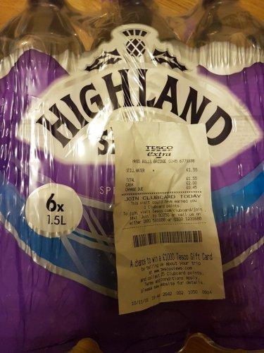 Highland Spring Still Water 6x1.5L £1.55  @ Tesco