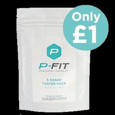 P-Fit Protein - 5 serving taster pack for £1