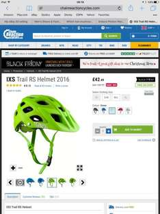 IXS Trail RS Helmet 2016 (5 colourways) mtb mountain bike Lid half price now only £42.49 @ crc chain reaction