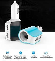 3 in 1 Multi Charger with 2  USB Ports £2.42 delivered @ Ali Express /  KOTRADE Store (Ends Midnight)
