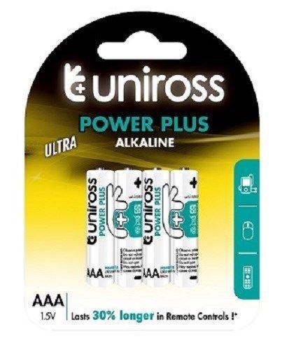 96 x AAA R3 UNIROSS ULTRA HIGH POWER ALKALINE BATTERIES £9.99 at eBay /  qualitydiscounts