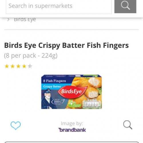 8pk Birds Eye Crispy Batter Fish Fingers 80p Sainsburys!