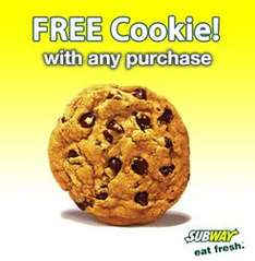 Unlimited Free Cookies at Subway (depending on how many eMails you have)!!!