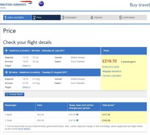 Cheap scheduled return flights from London Heathrow during the school summer holidays @ British Airways
