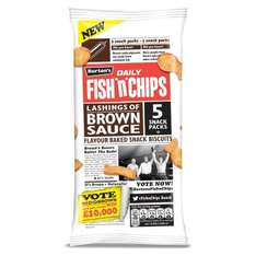 Burtons Daily Fish 'n' Chips Brown Sauce 5pk was 49p now 39p @ B&M