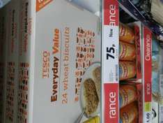 Tesco Everyday Wheat Biscuits Cereal (24 Pack) 75p @ Tesco (Online Also)