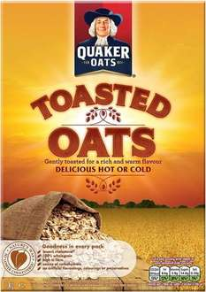 Quaker Oats Toasted Oats (1Kg) ONLY 70p @ Morrisons