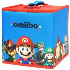 Amiibo 8 figure travel case mario and friends half price £9.99 Nintendo store free delivery over £20