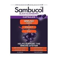 Sambucol Immuno Forte Black Elderberry 30 Gel Capsules - £8.99 / delivered @ Chemist direct