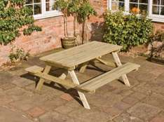 Rowlinson Wooden Picnic Table 1.5m x 1.5m for £29.99 at Wickes instore / online sold out