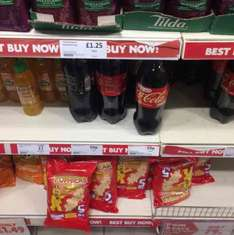 1.75L Various Flavour Bottles of Coca Cola in Heron - 59p