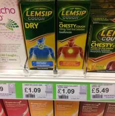 Lemsip Chesty & Dry Cough Syrup - Reduced to £1.09 - Superdrug