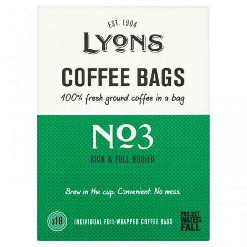 Lyons Coffee Bags No 3 down 33% to £1.73, No 4 to £1.72 Ocado