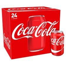 Coca-Cola 24pk and Diet Coca-Cola 24pk , Zero 24 pk £5 @ Tesco
