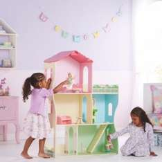 Wooden Dolls House with Furniture (was £50) Now £30 @ Asda George