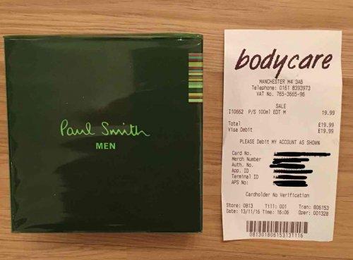 Paul Smith EDT £19.99 @ Bodycare instore