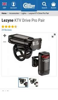 Lezyne KTV Drive Pro Pair | Chain Reaction Cycles £18.99