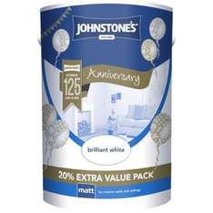 Johnstone's Brilliant White - Matt Emulsion Paint - 6L - £6.93 'in store only' at Homebase.