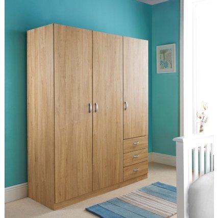 Copenhagen 3 Door + 3 Drawer Wardrobe £99.99 @ B&M