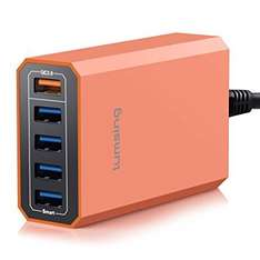 Lumsing Quick Charge 2.0 40W  1 Port QC2.0 + 4 Smart IC  5 Port Charging Hub amazon prime £11.99 (Prime) Sold by Great Conqueror and Fulfilled by Amazon.