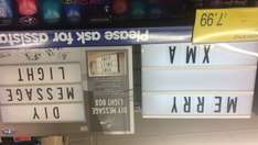 LED light box with letters £7.99 @ B&M