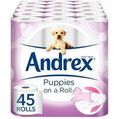 Andrex Gentle Clean 45 rolls now only £14.99 (Prime) / £19.74 (non Prime) @ Amazon