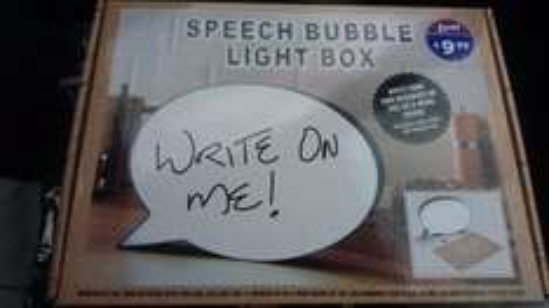 Speech bubble light box - £9.99 instore @ B&M