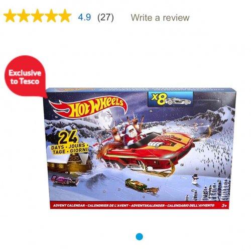 Tesco - hot wheels advent calendar - £12 instore