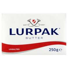 Lurpak Unsalted and Slightly Salted Block Butter 250g £1 was £1.70 @ Morrisons