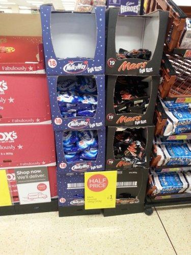 mars 19 pack /milky way 18 pack £1 each @ iceland