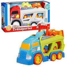 City Transporter Truck with 4 cars £12.99 buy any 2 for £20.00 @ B&M