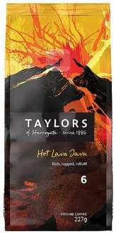 Taylors of Harrogate Hot Lava Java Extreme Roast Ground Coffee (Pack of 3) £6.49 (Prime) / £ 11.24 (non Prime) @ Amazon
