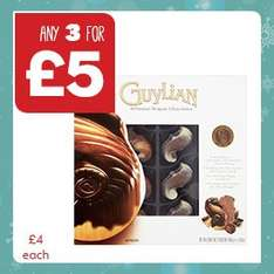 Assorted Boxed Chocolates inc. Guylian, Quality Street, Black Magic etc - 3 for £5 @ One Stop