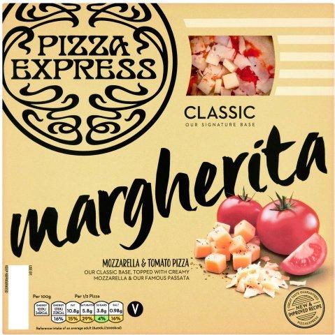 "Pizza Express Margherita Pizza 8"" 245G1/2 PRICE £2.25 WAS £4.50 TESCO"