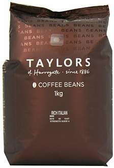 Taylors Italian coffee Beans 2 x 1kg £15.99 free delivery if order over £20 @ Amazon