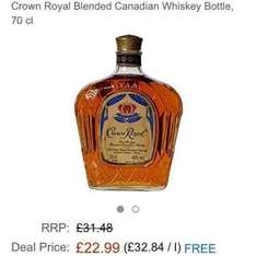 Crown Royal Canadian whisky. £22.99 at Amazon