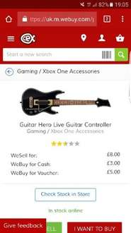 Pre-Owned Xbox One Guitar Hero Live Guitar Controller £8 @ Cex