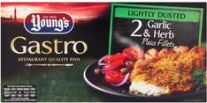 Youngs Gastro Garlic & Herb Dusted Plaice Fillets (Pack of 2 = 320g) ONLY £2.00 @ Asda