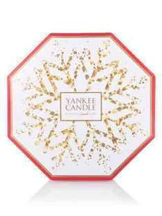 Clintons cards selling Yankee advent calendars with 25% discount. now £16.49 (was £21.99)