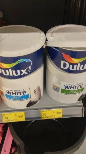 5l Dulux Pure Brilliant White (Matt and Silk) £10 at ASDA instore