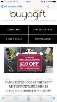 Buyagift £10 off £20 spend!