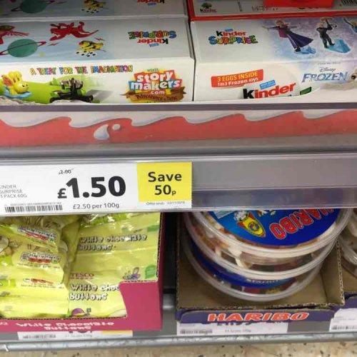Tesco Wimbledon Kinder Eggs 3pack: £1.50 instore