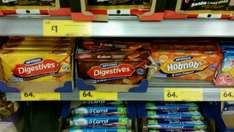 McVities Digestive/Hobnob Cake Bars (millionaire shortbread & flapjack) 6 pack reduced from £1.45 to 64p @ Morrisons