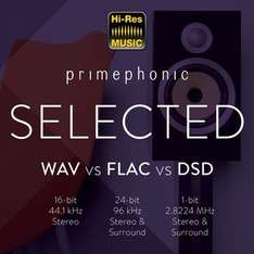 Free DSD vs FLAC vs WAV audio sampler