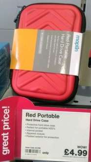 Red portable hard drive case £4.99 at Maplin instore
