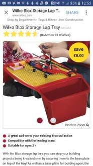 blox lap tray £8 from £16...free delivery to store @ Wilko